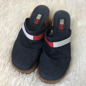 Vintage Women's Tommy Hilfiger RWB Denim Clogs 6M